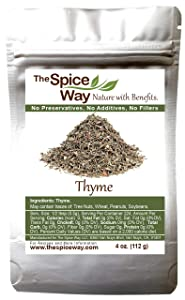 The Spice Way Thyme Leaves - ( 4 oz ) packaged fresh