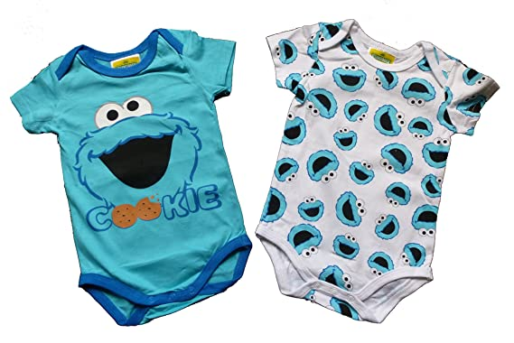 7e7a6bf3c4 Baby Body Jungen/Mädchen - Sesamstraße/Krümelmonster Bodys 2er-Set ...