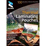 A5 Laminating Pouches High Gloss Laminator Sleeves 150 Micron (75 + 75 Microns) Glossy Laminate Pouch Sheets - Pack of 100