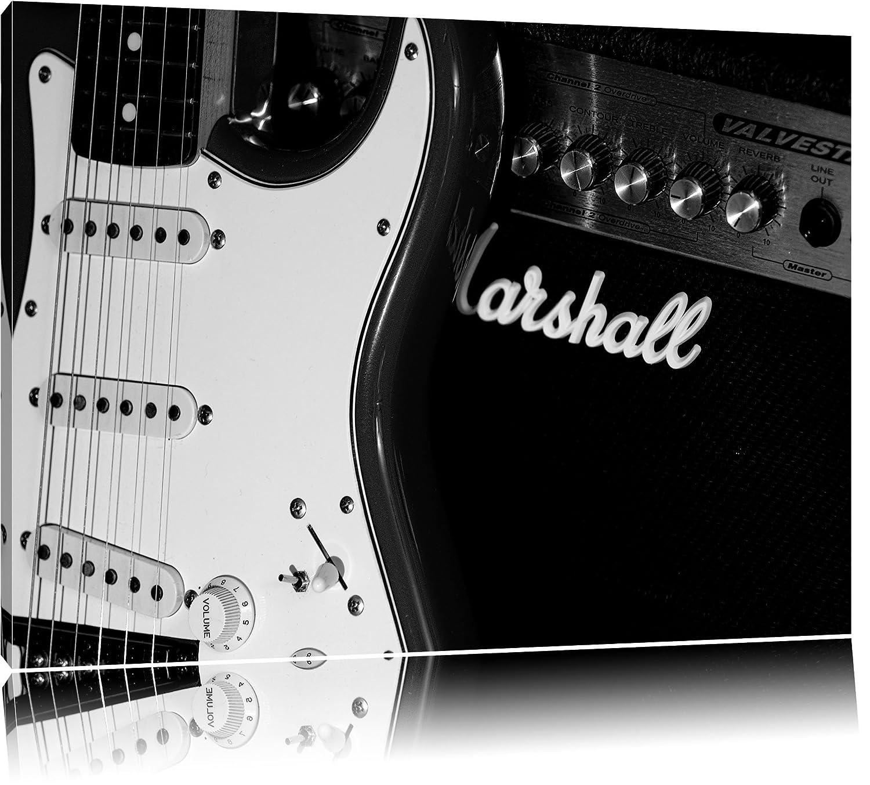 Guitarra eléctrica con amplificador Lienzo, XXL Fotos completamente enmarcado con grandes marcos de cuña, Láminas en cuadro de la pared con marco, ...