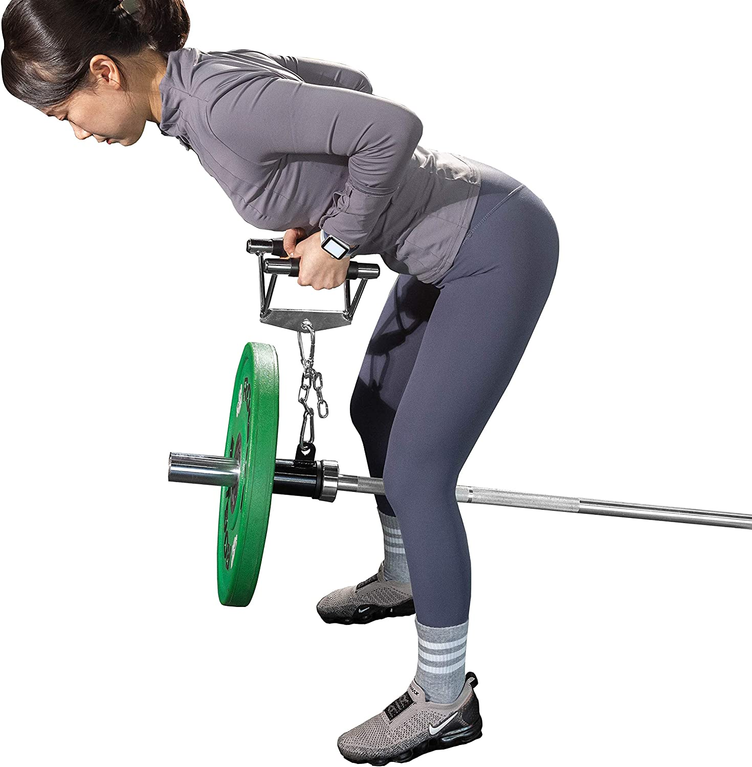 """T-bar Row Platform Landmine Attachment with Chain- Fit 2"""" Olympic Bar - Use with Cable Machine Attachment Hand : Sports & Outdoors"""