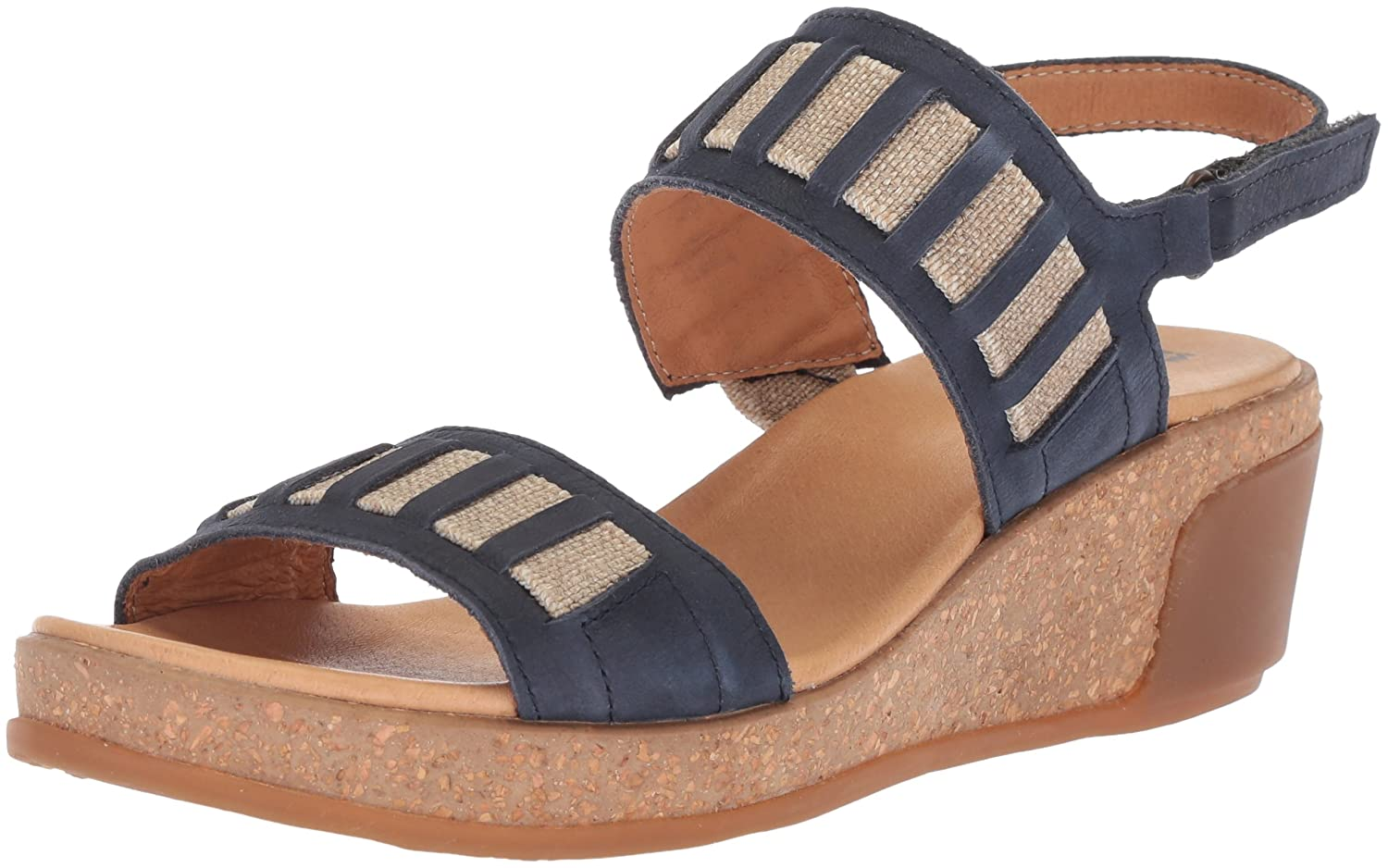El Naturalista Women's N5006 Pleasant Ocean/Leaves Wedge Sandal B075LMR5NS 39 Medium EU (8.5 US)|Ocean