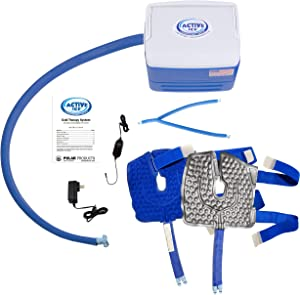 Polar Products Active Ice® 3.0 Double Knee & Joint Pad Cold Therapy System with Programmable Digital Timer, 9 Quart Cooling Reservoir