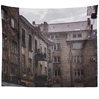 Berrykey Wall Hanging Tapestry – Cityscape Landscape – Photography Home Decor Living Room – 51 x 60 Inch