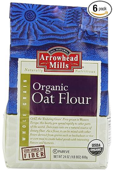 Harina de avena orgánica grano entero Arrowhead Mills ...