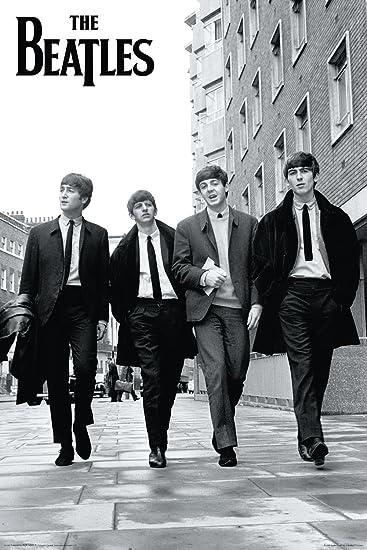 Amazon The Beatles Walking Down Street Music Poster Print
