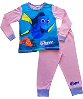 Disney Finding Nemo Baby Girls Nemo and Dory Dress With Spaghetti Straps White//Pink