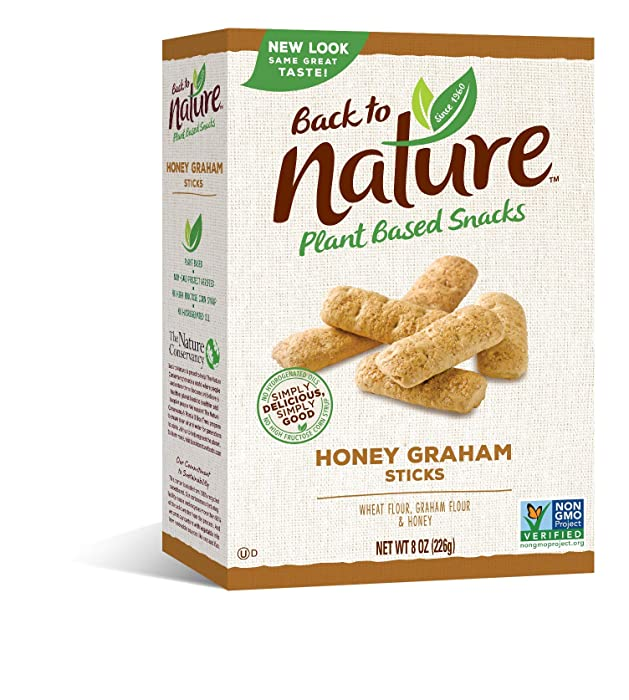 Back to Nature Cookies, Honey Graham Sticks, 8 Ounce