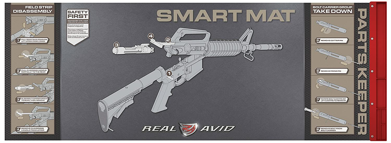 "Real Avid  223cal Smart Mat - 43x16"" 223 Gun Cleaning Mat, Rifle Graphics"