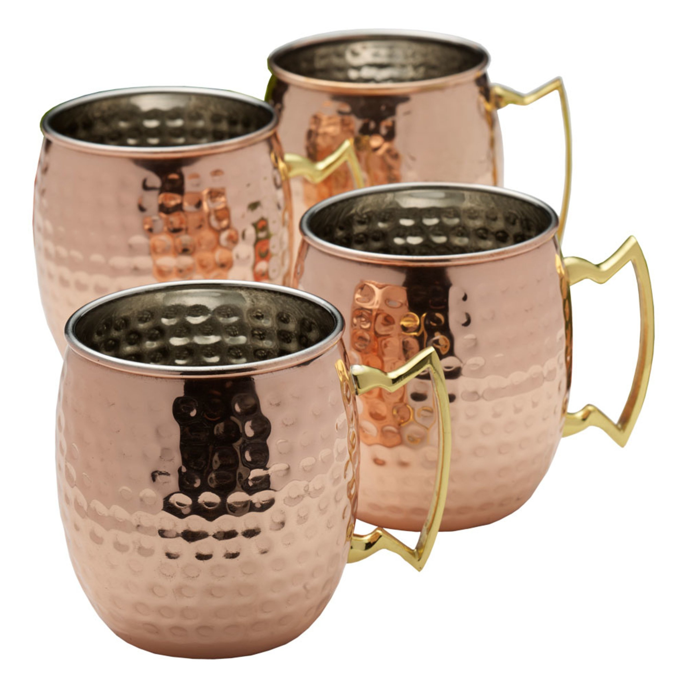 Mikasa 5212854 Hammered Moscow Mule Mugs 16 oz Copper