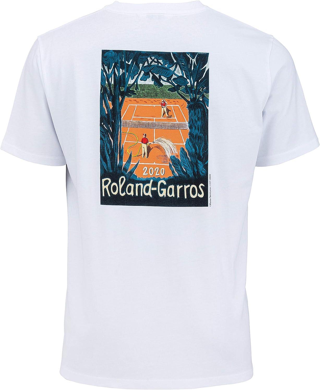 ROLAND GARROS 2020 - Camiseta Oficial de algodón para Hombre, Talla 2020