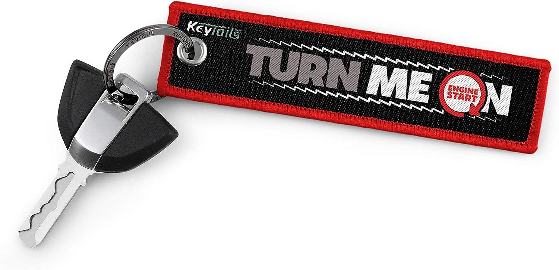 Turn Me On, Ride Me Scooter KEYTAILS Keychains ATV Premium Quality Key Tag for Motorcycle UTV