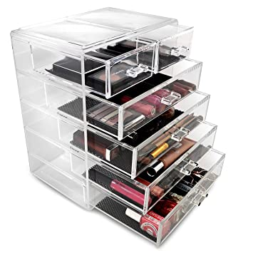 Wonderful Sorbus Cosmetics Makeup And Jewelry Big Storage Case Display  4 Large And 2  Small Drawers