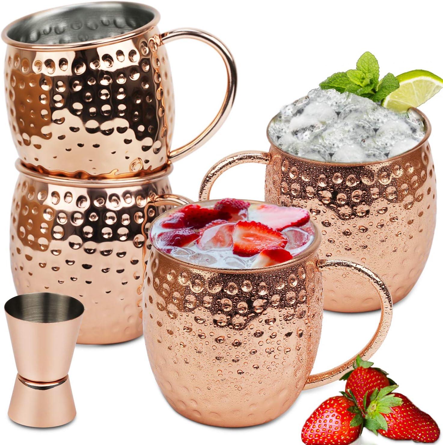 6 stücke Gehämmert Moskau Becher Mule Wodka Bier Reben Kaffeetassen