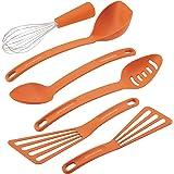 Rachael Ray Gadgets Utensil Kitchen Cooking Tools Set, 6 Piece, Orange