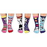 Box 6 Oddsocks For Girls Multicouleur United Oddsocks 30.5//38.5 EU Pandamonium