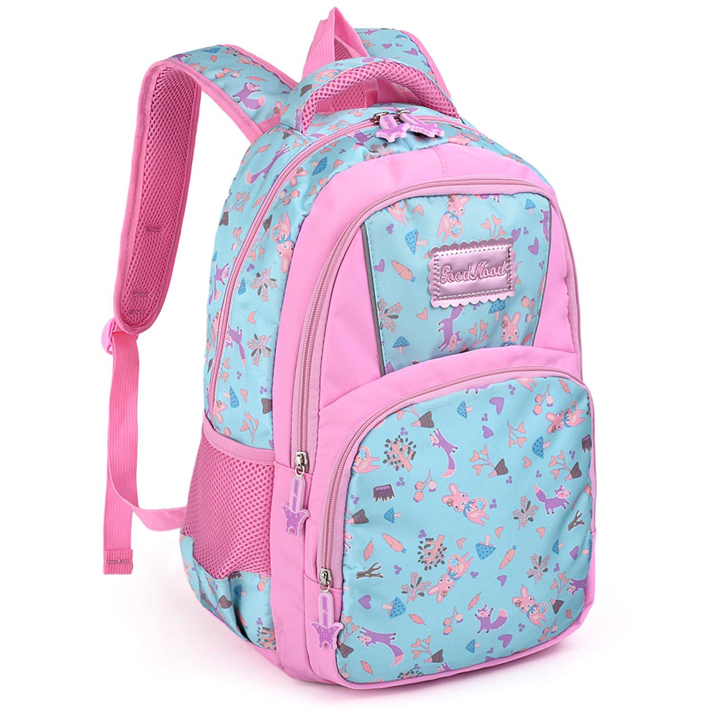 UTO Backpack Nylon Child Teenager Lightweight Rucksack Cute Cartoon Primary Junior School Bookbag 18000456-6