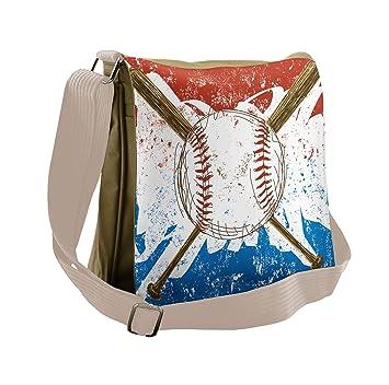 Amazon com | Lunarable Sports Messenger Bag, Hand Drawn