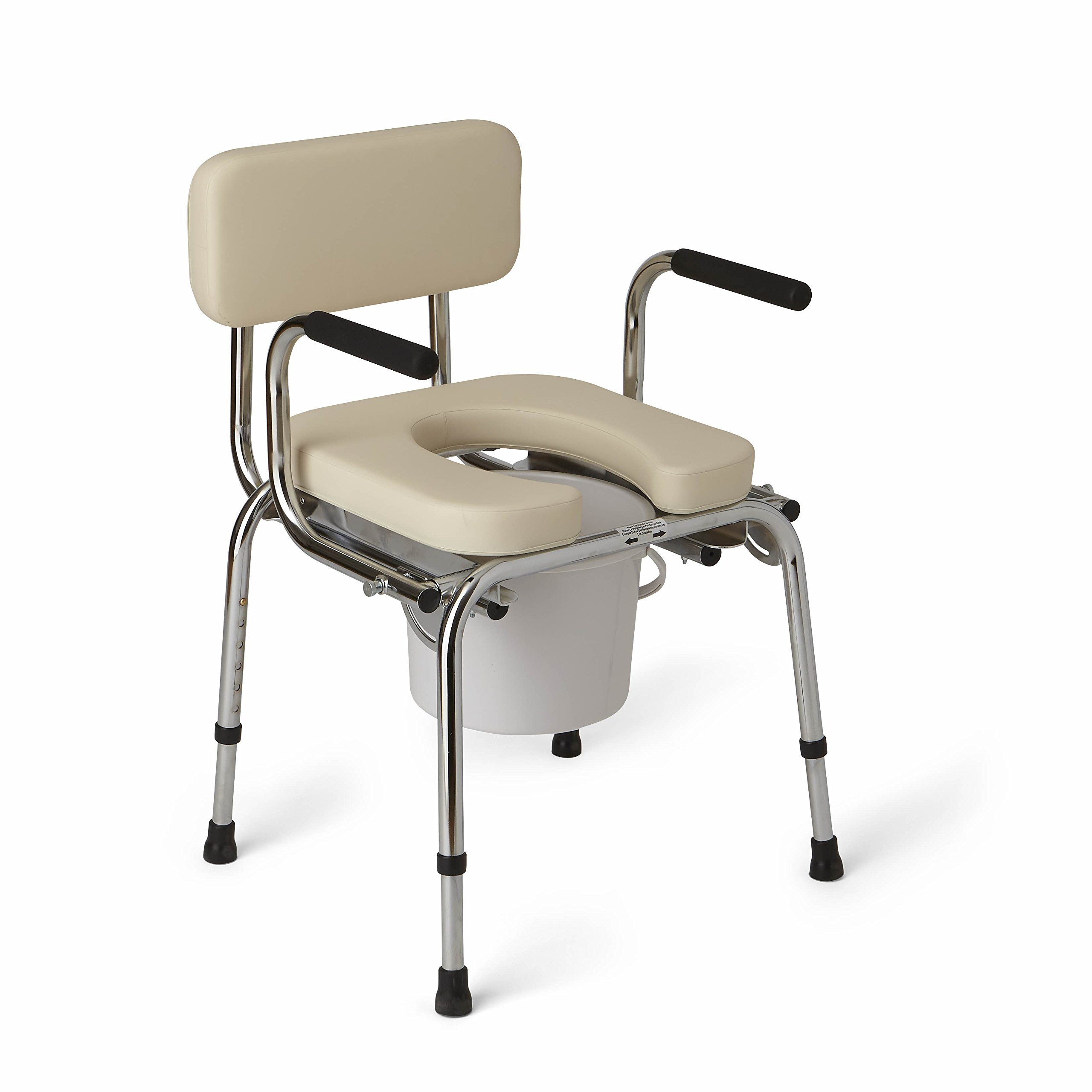 Medline Heavy Duty Padded Drop-Arm Commode by Medline