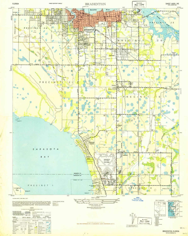 Amazon.com : YellowMaps Bradenton FL topo map, 1:24000 Scale ...