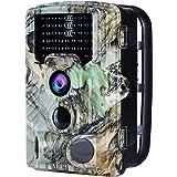 """AUCEE Tracker Wildkamera Fotofalle 16MP 1080P FHD 120°Breite Vision Infrarote Jagdkamera, 20m Nachtsicht 0.2s Trigger-Zeit Wildlife Kamera Wasserdichte IP56 Überwachungskamera mit 2.4"""" LCD Display"""