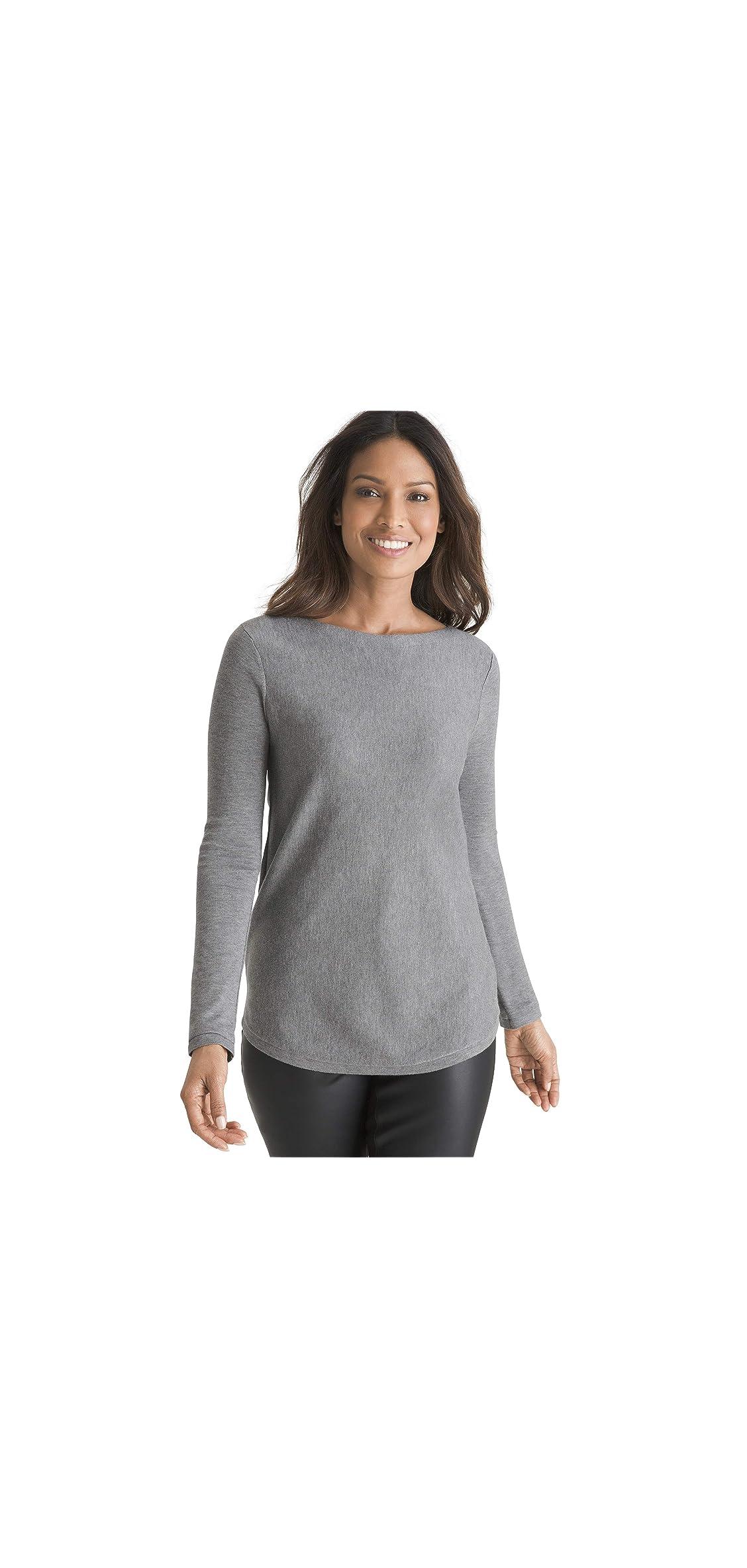 Womens Bateau Neck Shirttail Hem Everyday Pullover