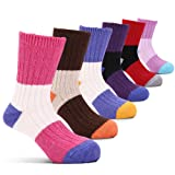 Amazon Price History for:Girls Wool Socks Kids Color Block Seamless Winter Warm Socks 6 Pack