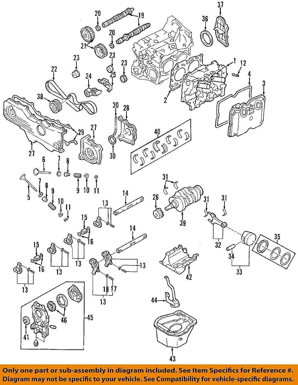 Outback // 2.0L 2.2L Forester 2212cc 2.5L // DOHC EJ222 2458cc // EJ205 DNJ MB715 Main Bearings for 1999-2014 // Saab Subaru // 9-2X SOHC // H4 // 16V // 1994cc Legacy EJ22E Impreza EJ223 Baja