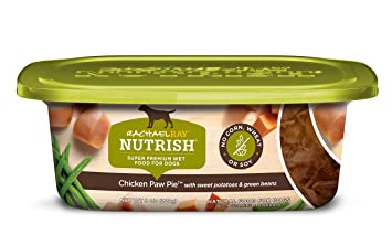 Rachael Ray Nutrish Natural Wet Dog Food Chicken Paw Pie Grain Free 8 Oz Tub Pack Of 8 Canned Wet Pet Food Pet Supplies Amazon Com