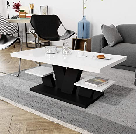 two shelves stylish modern coffee table