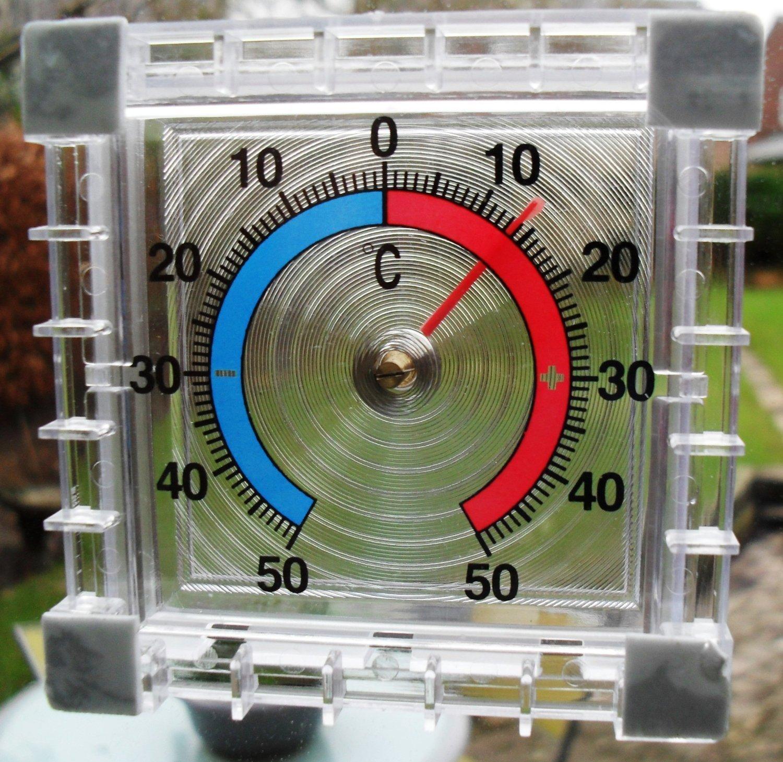 2XWindow Thermometer indoor outdoor use self adhesive SupaGarden