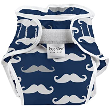 Kushies Baby Toddler Waterproof Diaper Wrap Blue Whales