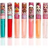 MGA Entertainment LOL Surprise - Paquete de 7 Barras de Brillo para Labios con Sabor - Juego de bálsamos para Labios para niñas