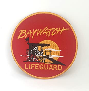 775a560696f3 Baywatch Swimsuit Lifeguard Logo Iron-On Embroidered Patch  Amazon.ca  Home    Kitchen