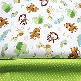 Fuya 160cm * 100cm * 2Monkey Punkte Baumwolle Stoff Patchwork Tissue Tuch handgefertigt DIY Quilten Baby & Kinder Blatt Kleid Material
