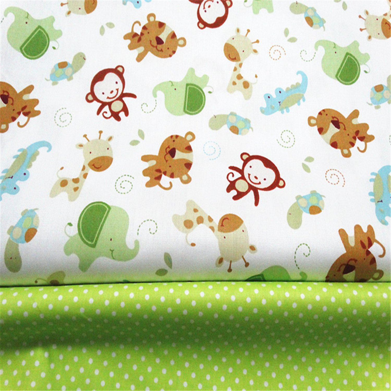 Amazon.com: FUYA 2pieces160cmx100cm Monkey Dots Cotton Fabric Patchwork Tissue Cloth Handmade DIY Quilting Sewing Baby&Children Sheets Dress Material