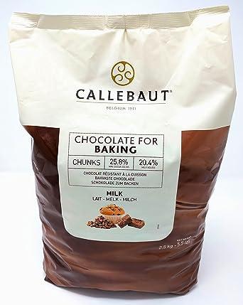 Callebaut - Trocitos de Chocolate con Leche para Hornear 2 ...