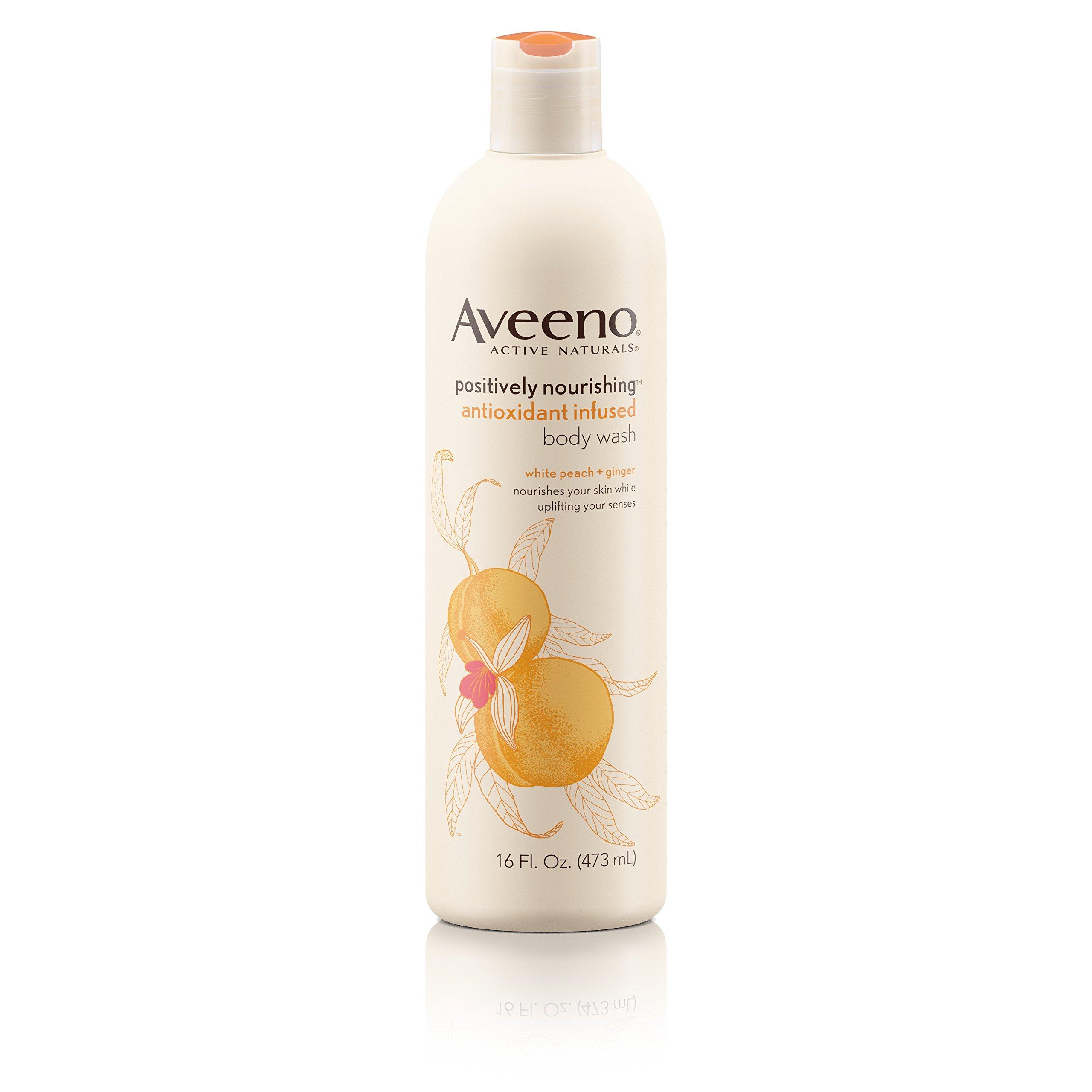 Aveeno Positively Nourishing Antioxidant Infused Moisturizing Body Wash, 16 Oz