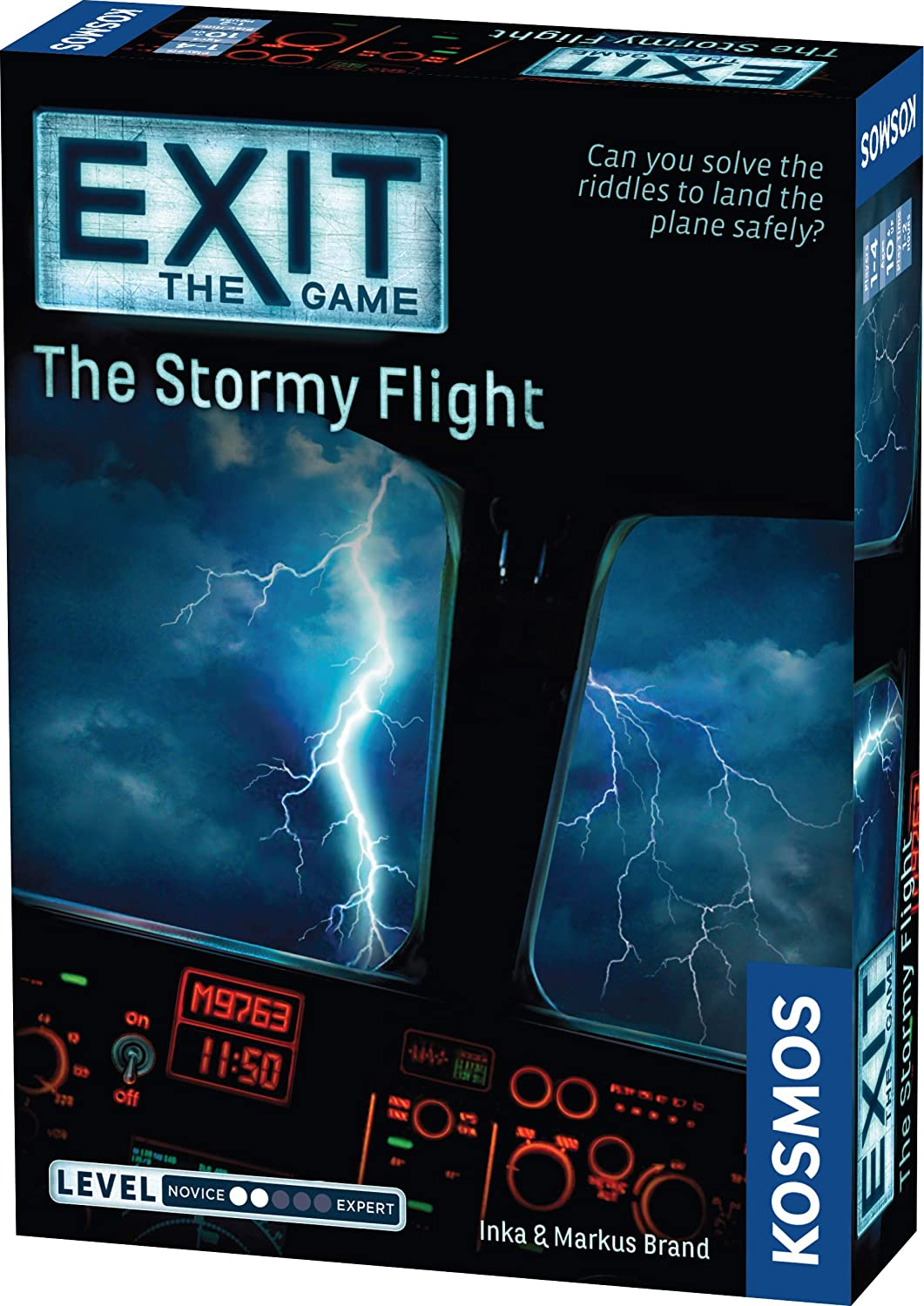 Thames & Kosmos EXIT: The Stormy Flight | Escape Room Game in a Box| EXIT: The Game – A Kosmos Game | Family – Friendly, Card-Based at-Home Escape Room Experience for 1 to 4 Players, Ages 12+