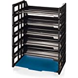 Officemate Side Load Letter Tray, Black, 6 Pack (21062)