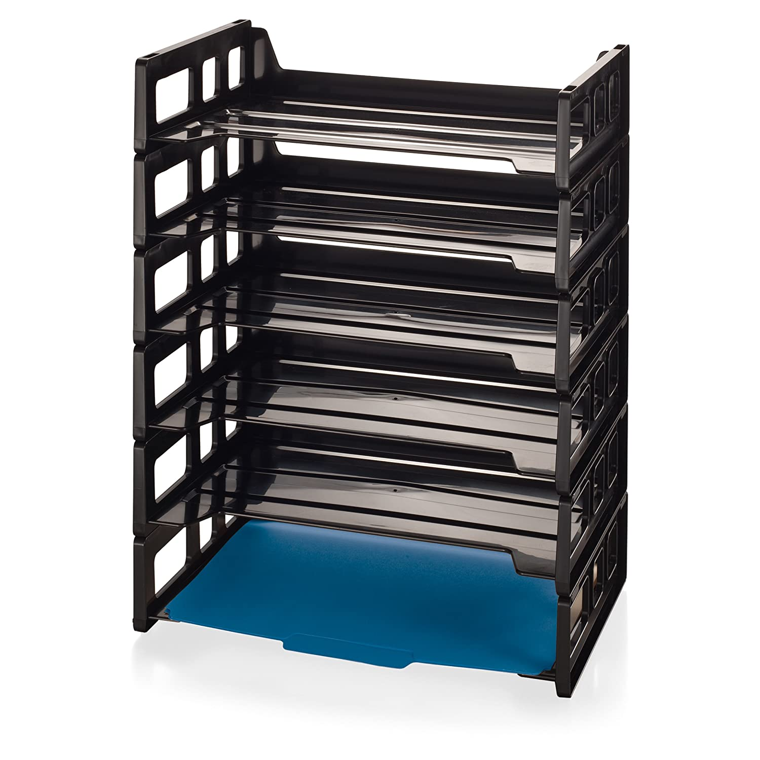 Officemate Side Load Letter Tray, Black, 6 Pack (21062) Officemate International