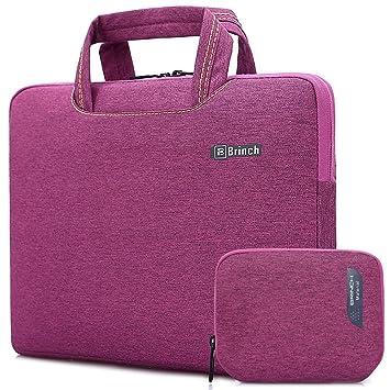 48b39bb0b2 BRINCH Housse pour ordinateur portable,Sacoche à main Protection de Sac  ordinateur portable,Housse
