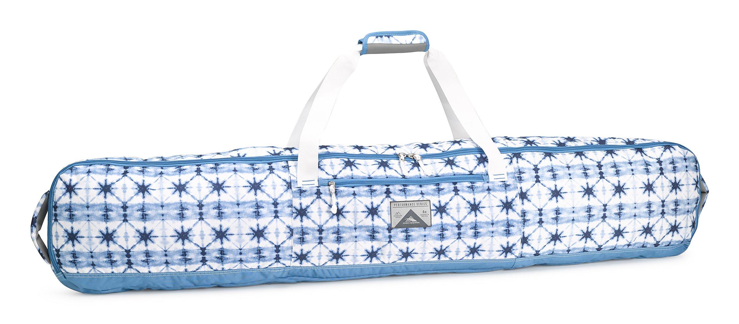 High Sierra Padded Snowboard Bag, Indigo Dye/Mineral/White