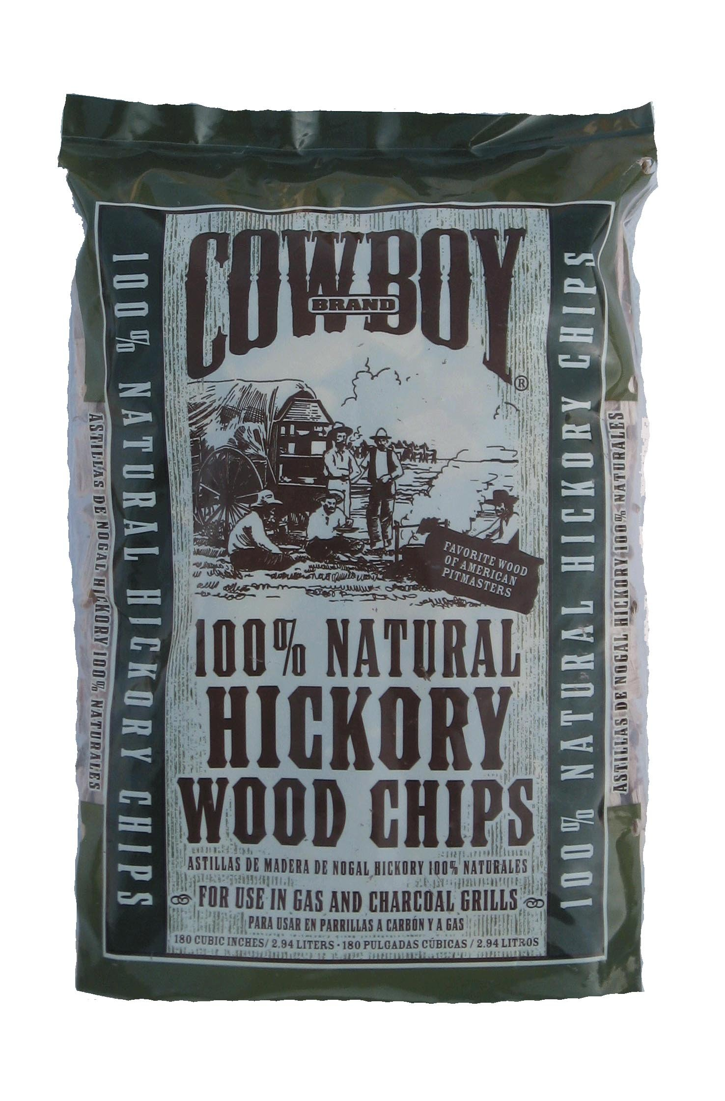 Cowboy 180 Cubic Inch Hickory Wood Chips