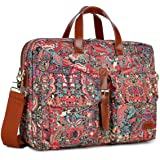 BAOSHA Multicoloured 17inch Canvas Laptop Computer Bag Messenger Bag Briefcase for Women BC-07 (HS)