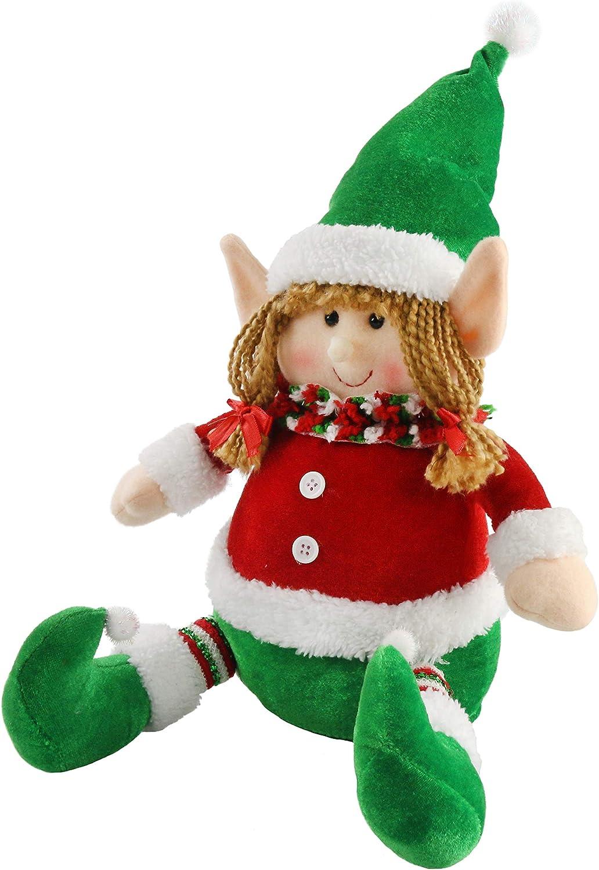 Athoinsu 12/'/' Christmas Elf Girl Plush Doll Tumbler Adorable Xmas Holiday Party Supplies Gifts for Toddler Kids