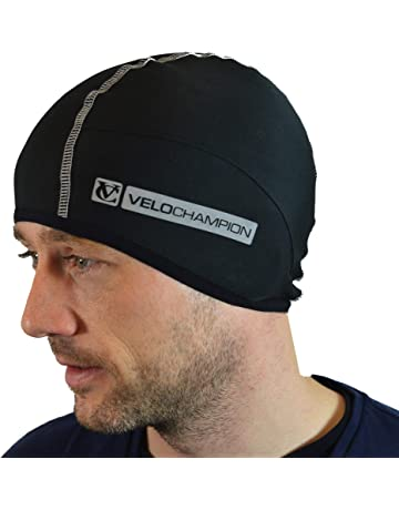 5c2d55555501c VeloChampion Thermo Tech Cycling Skull Cap – Windproof Thermal Under Helmet  Hat – Stretchable Tight