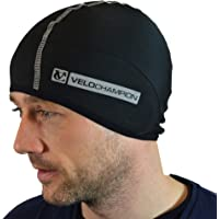 60ed22b2e1302 VeloChampion Thermo Tech Cycling Skull Cap – Windproof Thermal Under Helmet  Hat – Stretchable Tight/