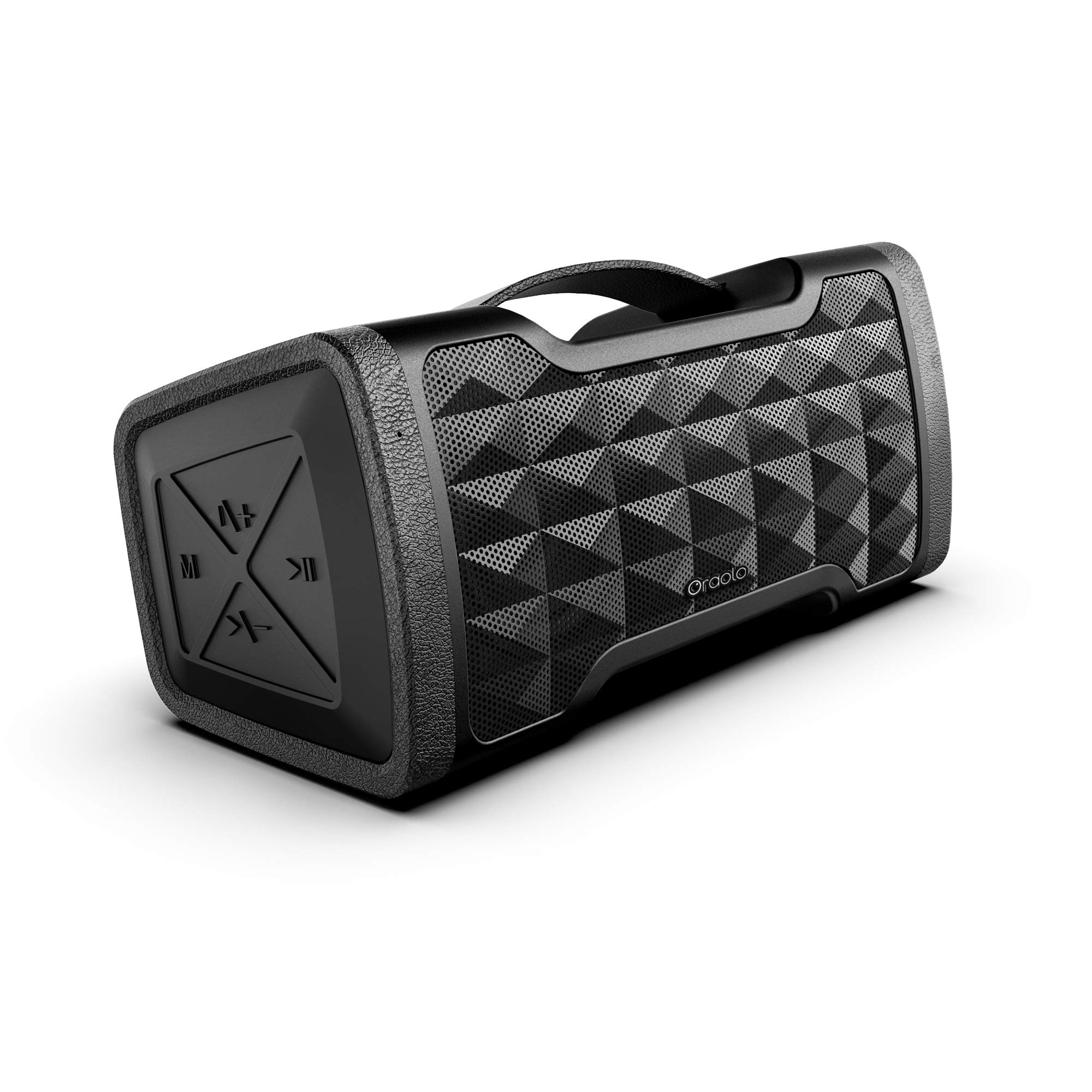 Portable Bluetooth Speakers, IPX5 Waterproof Speakers with 24W Stereo Sound, Bluetooth 5.0 and Built-in Mic, 20H Playtime Outdoor Speakers, Durable Design Suitable for Travel, Party, Camping, Black by oraolo
