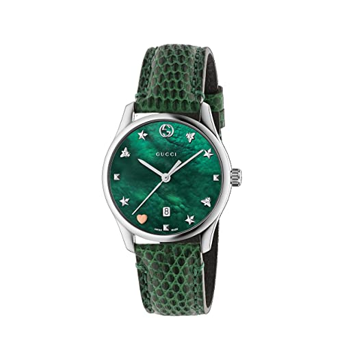 a8e8499556d Gucci Unisex-Adult Analogue Classic Quartz Watch with Leather Strap  YA1264042  Amazon.co.uk  Watches